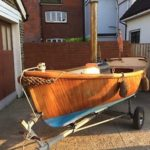 Steam Boat Dingy Mahogany Rowing Boat Live Steam Engine