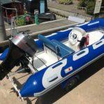 Avon Hypalon 7man Four Stroke Rigid Inflatable Boat Rib Tender Brand New Trailer