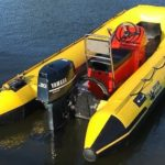 Hypalon 4.2m Semi Rib Electric Start Fishing Safety Club Rescue Inflatable Boat