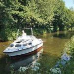 Shetland 570 Cabin Cruiser River Canal Boat 19ft 10hp Honda Outboard And Trailer