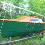 Micro 18 Trailer/sailing Yacht Ron Woof Built With Galvanised Trailer