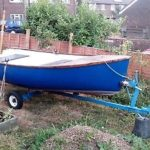 Rowing Boat Tender 12′ Feet By 5′ Feet With Trailer