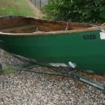 Wooden Rowing Boat With Trailer