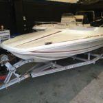 Speedboat Project 75hp Outboard Mercury. Snipe Trailer