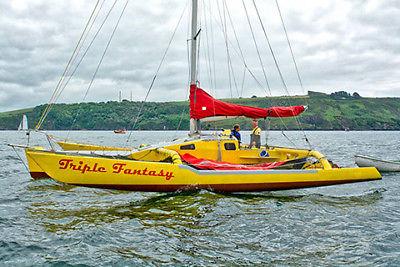 Triple Fantasy Kelsall 38 Trimaran Sailing Boat Multihull