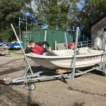 Orkney Dory 40hp Honda Outboard, Safety Boat, Fishing
