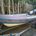 Avon 4 Mtr Rib Inflatable Boat With Mariner 20hp And Road Trailer